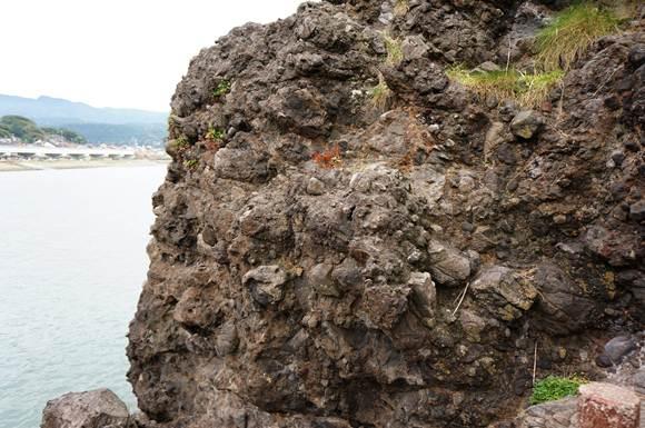 32 この岩肌がフォッサマグナと言うらしい.JPG